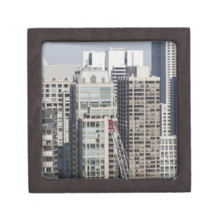 Aerial panoramic view of buildings in Chicago's 2 Gift Box