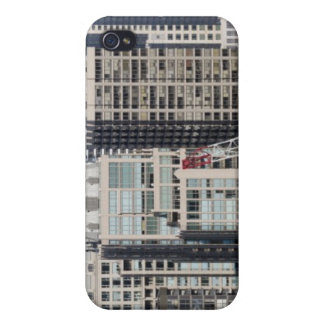 Aerial panoramic view of buildings in Chicago's 2 iPhone 4 Case