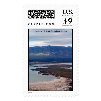 Aerial Photo Lake Lucero White Sands Stamps