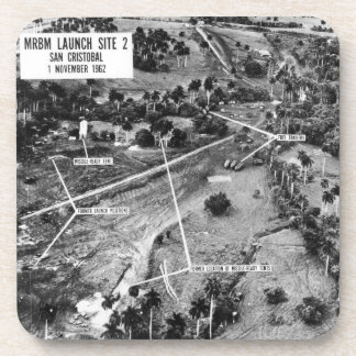 Aerial Photograph of Missiles in Cuba 1962 Beverage Coasters