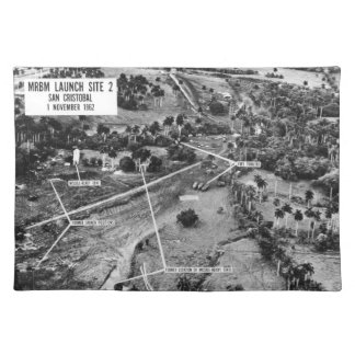 Aerial Photograph of Missiles in Cuba 1962 Placemats