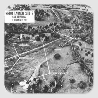 Aerial Photograph of Missiles in Cuba 1962 Square Sticker