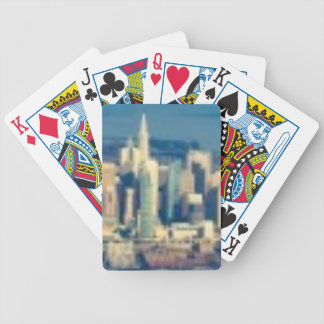 Aerial photograph of the San Francisco Bay Bicycle Playing Cards