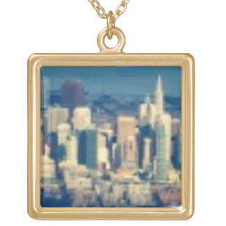 Aerial photograph of the San Francisco Bay Gold Plated Necklace