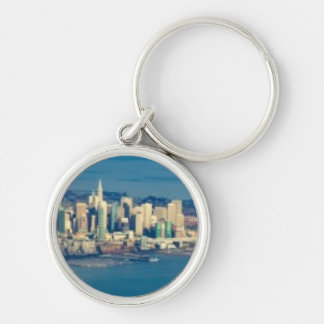 Aerial photograph of the San Francisco Bay Keychain
