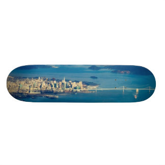 Aerial photograph of the San Francisco Bay Skateboard Deck