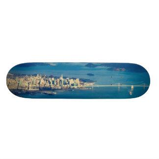 Aerial photograph of the San Francisco Bay Skateboard Deck
