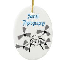 Aerial Photography Ceramic Ornament