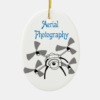 Aerial Photography Ceramic Ornament