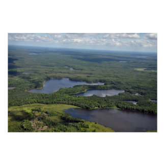 Aerial Photography Northern Wisconsin Poster