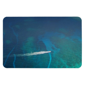 Aerial Photography of the Maldives Rectangle Magnets