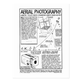 Aerial Photography With Box Camera Postcard