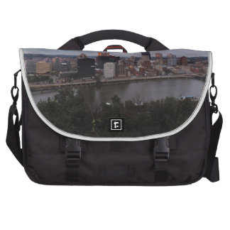 Aerial Pittsburgh Skyline at sunset Bag For Laptop