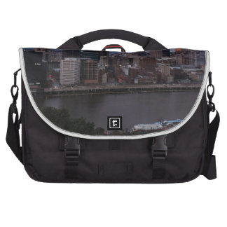 Aerial Pittsburgh Skyline at sunset Commuter Bag