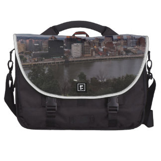 Aerial Pittsburgh Skyline at Sunset Laptop Computer Bag