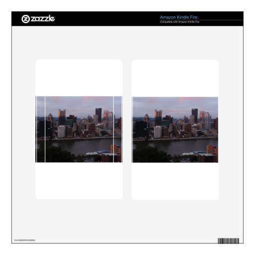 Aerial Pittsburgh Skyline at sunset Kindle Fire Skins
