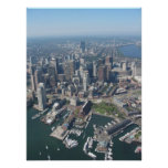Aerial Poster of Boston Mass