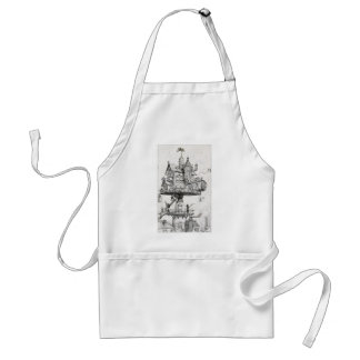 Aerial Rotating House Adult Apron