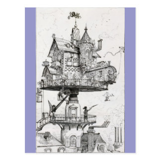 Aerial Rotating House Postcards