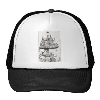 Aerial Rotating House Trucker Hat