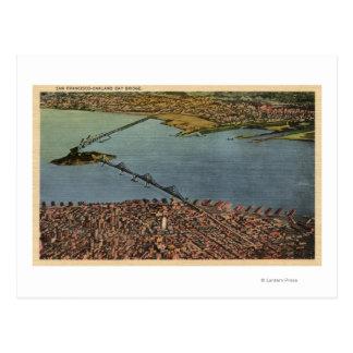 Aerial, San Francisco-Oakland Bay Bridge Post Card