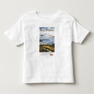 Aerial Scene of Town and Dock Railway Poster Tshirts