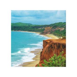 Aerial Seascape Scene Pipa Brazil Canvas Print