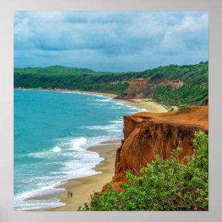 Aerial Seascape Scene Pipa Brazil Poster