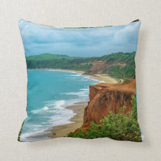 Aerial Seascape Scene Pipa Brazil Throw Pillow