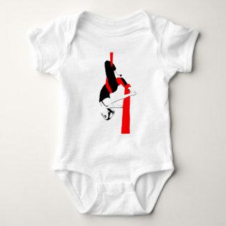 Aerial Silks Dancer Gemini Pose Baby Bodysuit