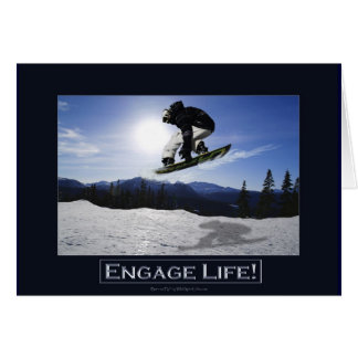 AERIAL SNOW BOARDER Series Greeting Card