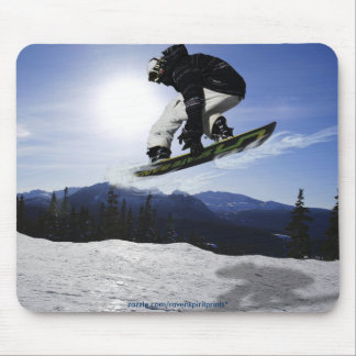 AERIAL SNOW BOARDER Series Mouse Pad
