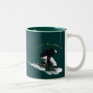 AERIAL SNOW BOARDER Series Mug
