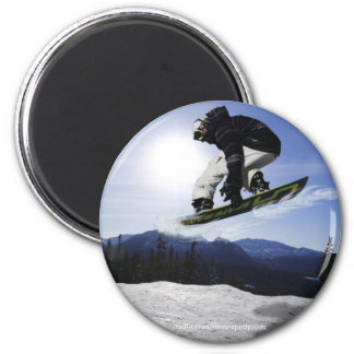 AERIAL SNOW BOARDER Series Refrigerator Magnets