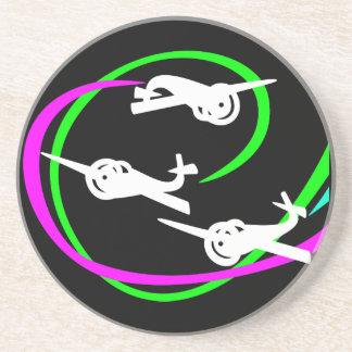Aerial stunt planes drink coaster