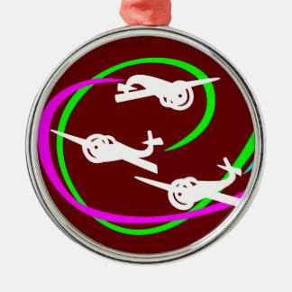 Aerial stunt planes metal ornament