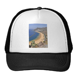 Aerial view a beach of Tenerife Trucker Hat