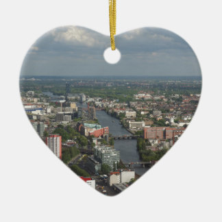 Aerial view Berlin with Spree River Germany Ceramic Ornament