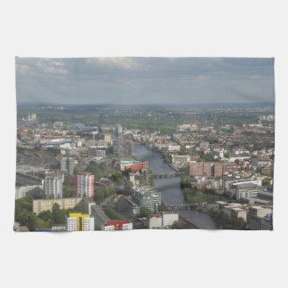 Aerial view Berlin with Spree River Germany Kitchen Towels