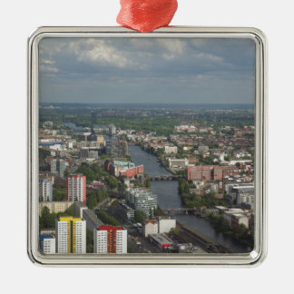 Aerial view Berlin with Spree River Germany Metal Ornament