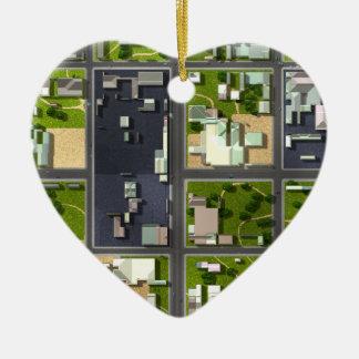 Aerial View - Ceramic Ornament