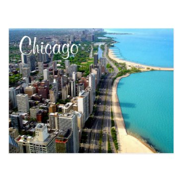 merrydestinations Aerial View Chicago Illinois Travel Post Card