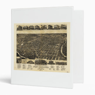 Aerial View Fort Worth Tarrant County Texas (1886) 3 Ring Binders