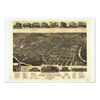 Aerial View Fort Worth Tarrant County Texas (1886) Card