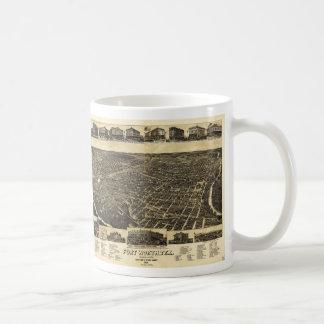 Aerial View Fort Worth Tarrant County Texas (1886) Coffee Mug