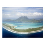 Aerial view from small commuter plane of Bora Postcard