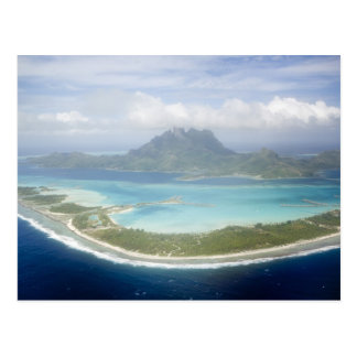 Aerial view from small commuter plane of Bora Post Cards