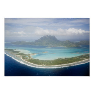 Aerial view from small commuter plane of Bora Print