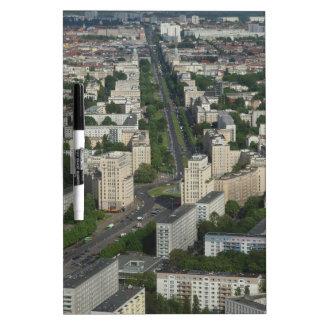 Aerial view Karl Marx Allee Berlin Germany Dry-Erase Board