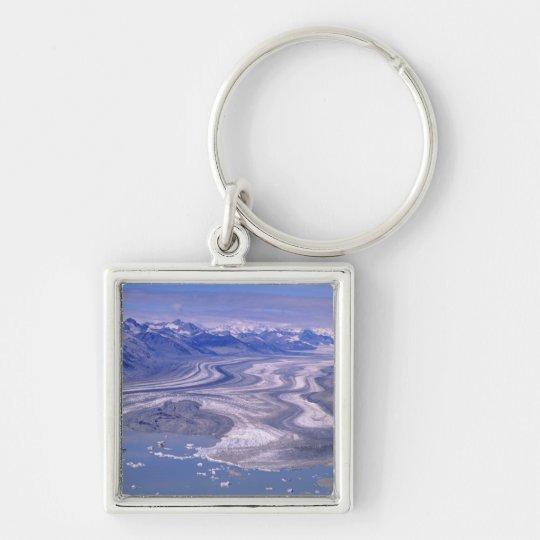 Aerial view Lowell Glacier, Kluane National Keychain